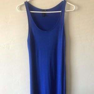 H&M Medium Basic Blue Tank Maxi Dress Stretch